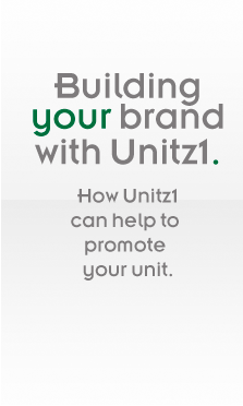 Building your brand with Unit1st. How Unit1st can help to promote your unit.